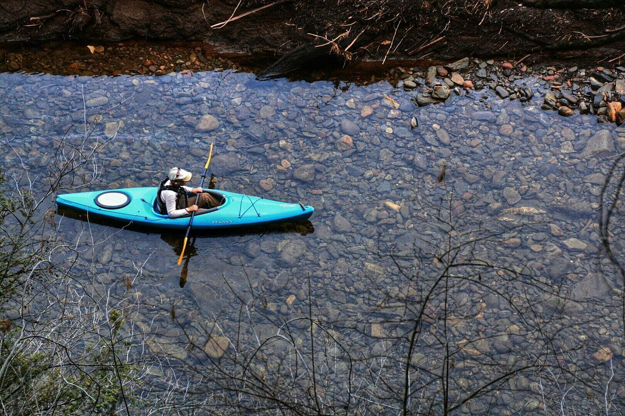 The lone kayaker Photographer People Enjoying Life Outdoors OpenEdit Kayaking