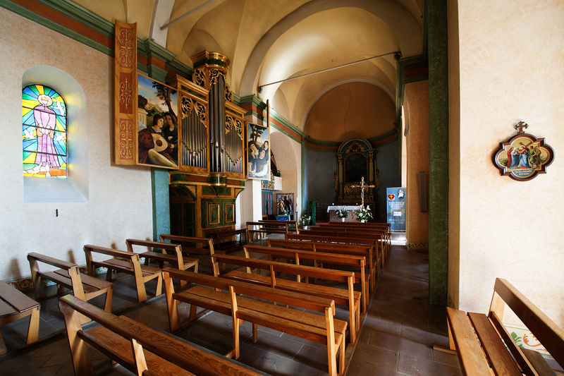 Absence Arrangement Art Art And Craft Chair Church Column Design In A Row Indoors  Interior Mougins Narrow Order Ornate Place Of Worship Religion Religious  Religious Architecture Saint-Jacques Saint-Jacques Le Majeur Spirituality Table