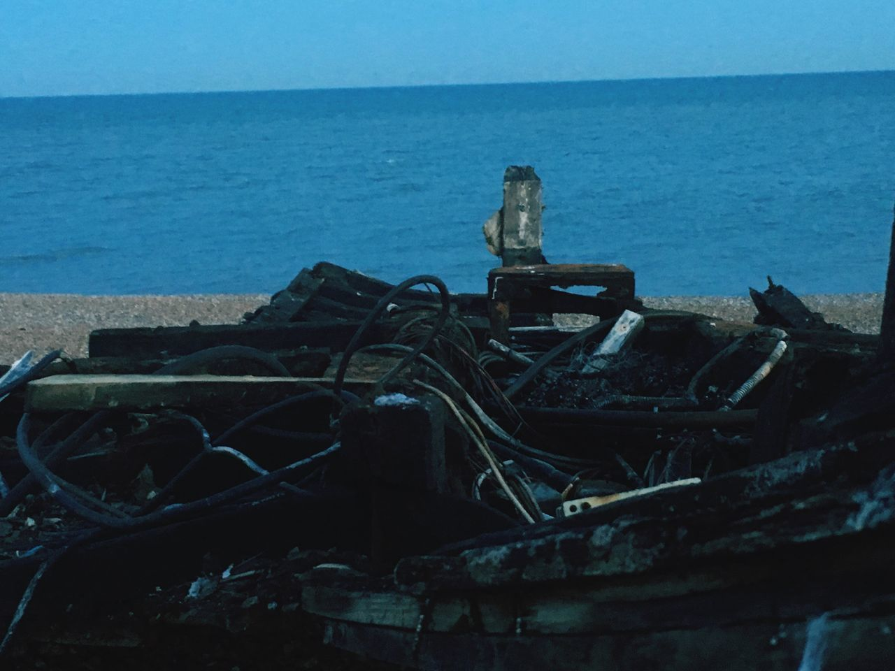 No matter how bad the mess is. It can always be cleaned Horizon Over Water Sea Water Abandoned Nature Beach Boat