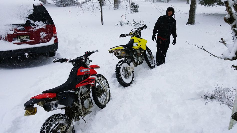 Because it's there. Blizzard 2016 Snow Motorcycles