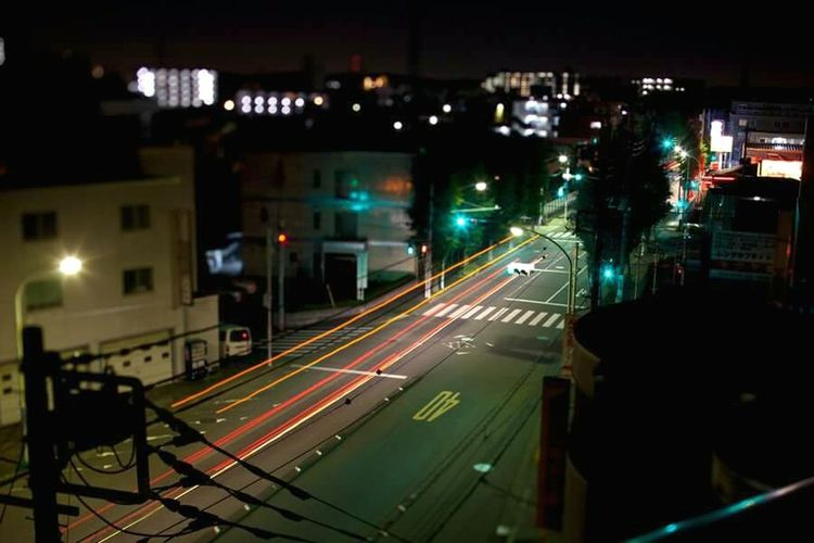 Japan Road Night Life Normal Day Tokyo City Town Car Light Capture The Moment
