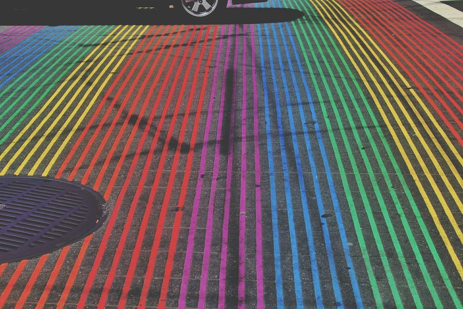 Pattern Multi Colored High Angle View Day No People Full Frame Outdoors Castro Rainbow Lgbt Flag Lgbt Pride Lgbt Red Yellow