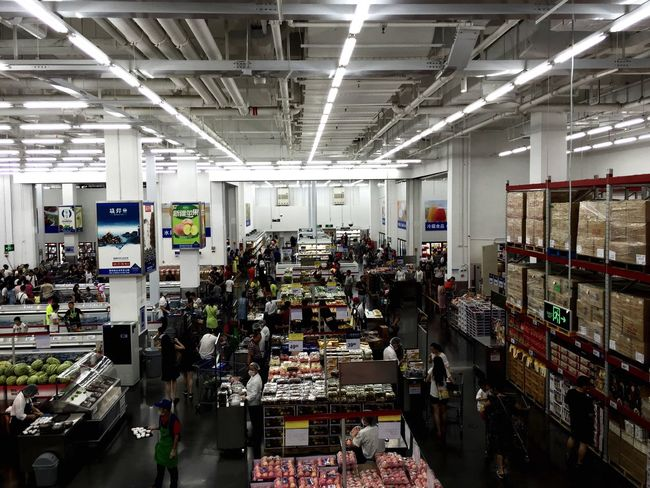 Indoors  High Angle View Illuminated Large Group Of Objects Abundance Collection Arrangement Messy City Life Retail  Architecture Shop Shopping Mall Shopping China Zhuhai