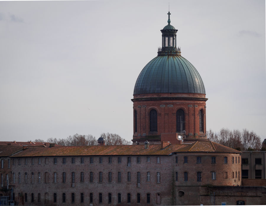 View from Toulouse Architecture Building Exterior Built Structure Clear Sky Day Dome France Midi-Pyrenees No People Occitanie Outdoors Place Of Worship Sky Toulouse