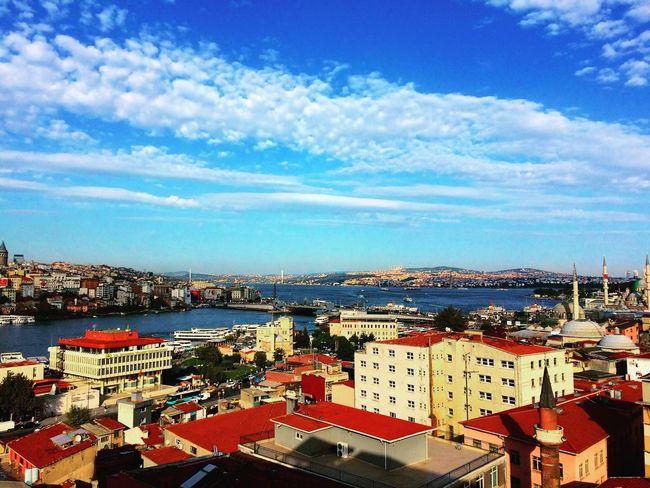Güzel bir günden güzel bir manzarada çekelim dedik :) Eminönü/ İstanbul , Manzara Lanscape Istanbul IPhoneography Iphoneonly