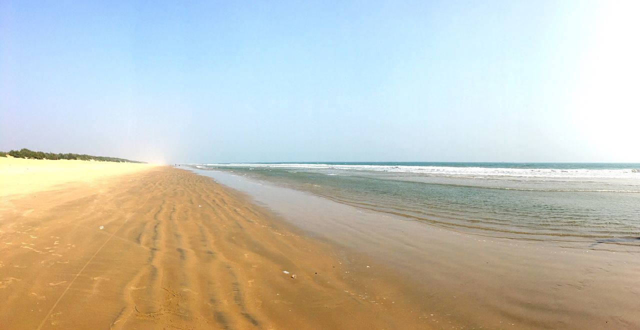 Sea Beach Sand Horizon Over Water Scenics Nature Beauty In Nature Water Tranquil Scene Tranquility Sky Clear Sky Outdoors No People Day