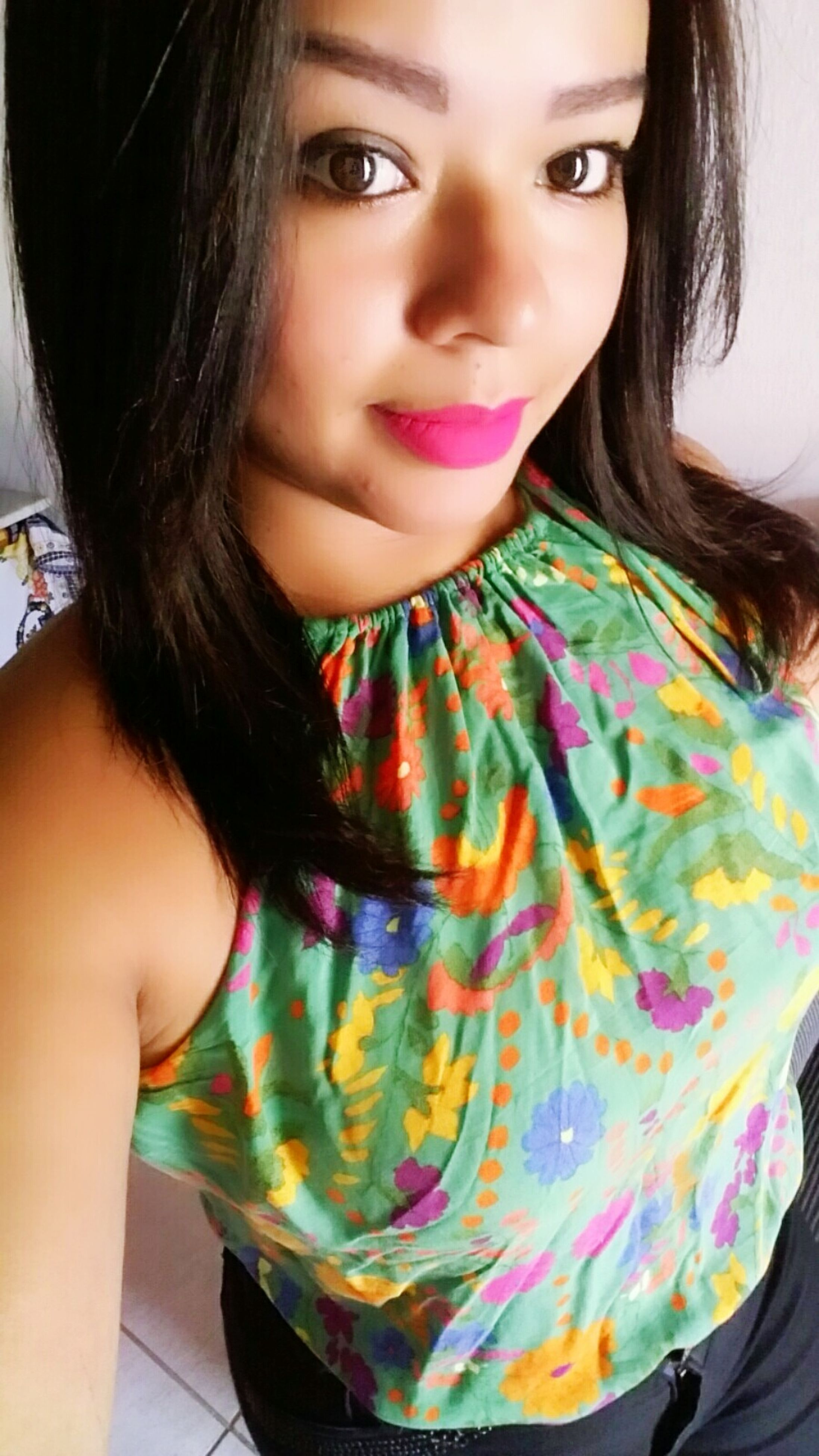 multi colored, portrait, looking at camera, one person, real people, women, only women, beautiful woman, one woman only, fashion, lifestyles, front view, beauty, people, adult, indoors, close-up, human body part, adults only, one young woman only, young adult, human lips, day