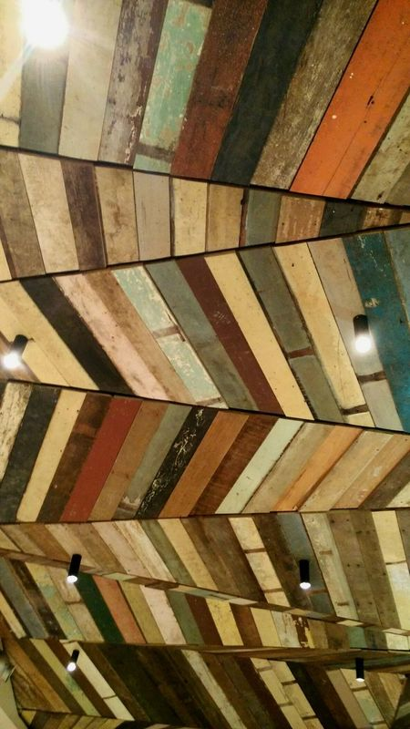 Zigzag Lines Colours Colour Ceiling Wood Wooden Wooden Ceiling Geometric Shapes Geometry Pattern Pieces Everything In Its Place