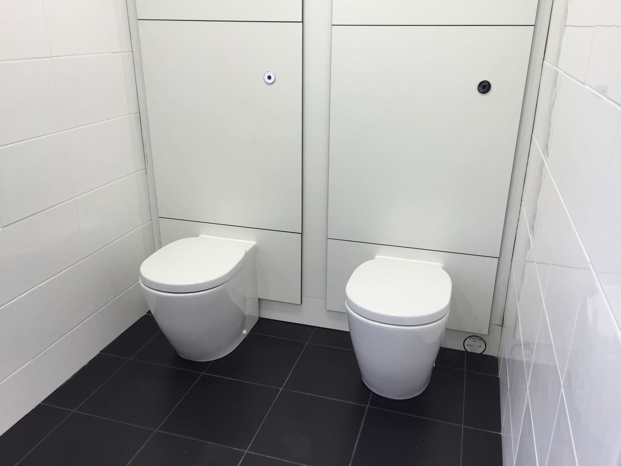 Toilet Toilets Double Tiles Flush Something Different Something Missing White Toilet Seat Panels Blackandwhite Black And White Black