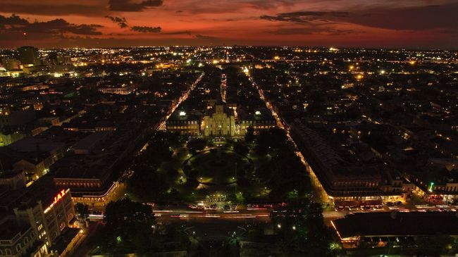 View of Jackson Square at sunset. Shot on a DJI Phantom 3 Pro. DJI Phantom 3 Professional Jackson Square Dronephotography Droneshot DJI Phantom 3 Pro Sunset Drone