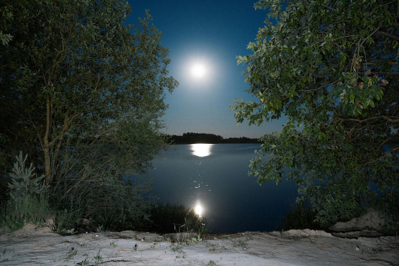 Three Suns Blue Calm Green Horizons Lake Linas Was Here Moonshine Mystic Nature Night Reflection Summer Water