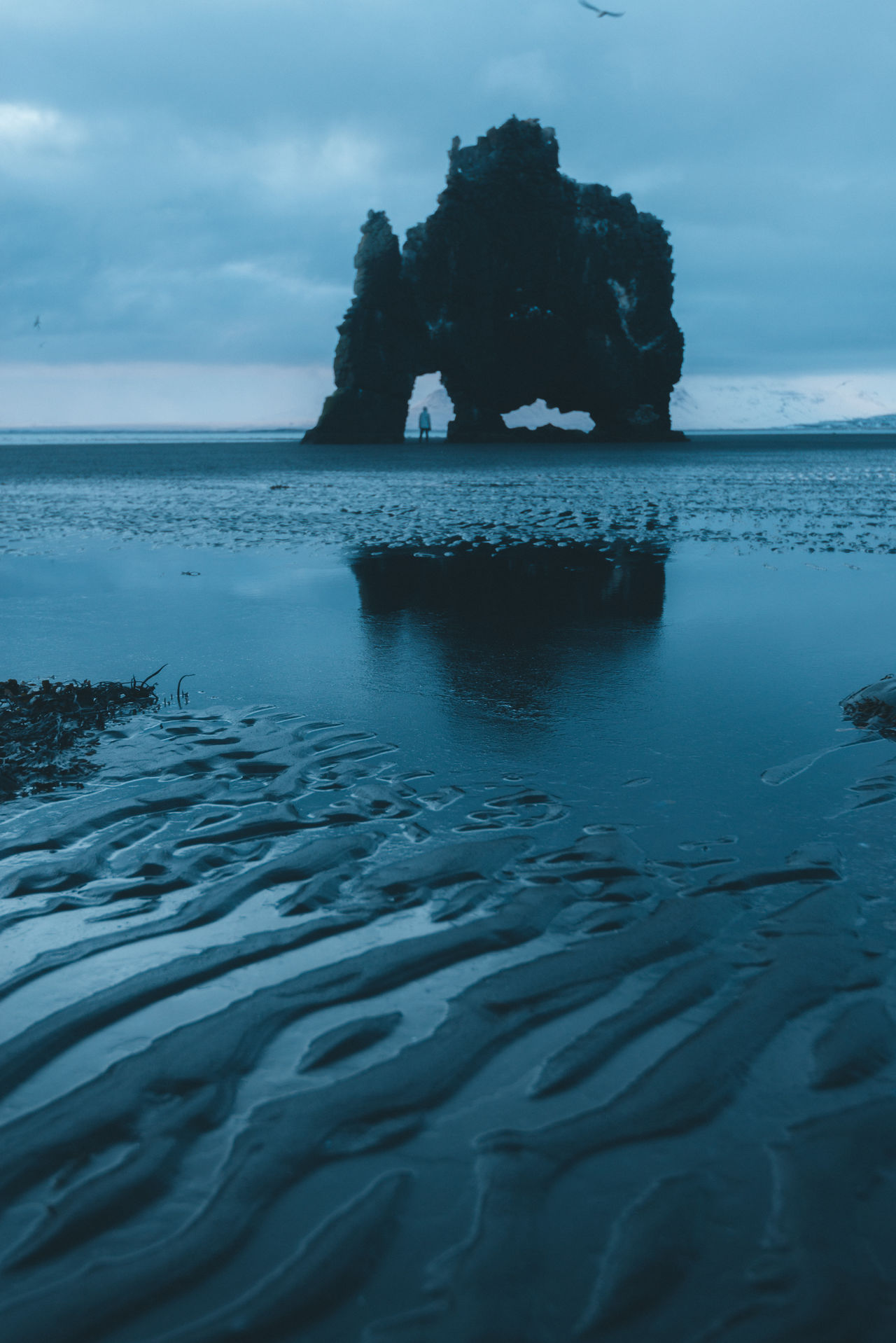 Rock formation in iceland on a black sand beach Beach Beauty In Nature Cloud - Sky Day Horizon Over Water Iceberg Nature No People Outdoors Rock - Object Scenics Sea Sky Sunset Tranquil Scene Tranquility Water Waterfront