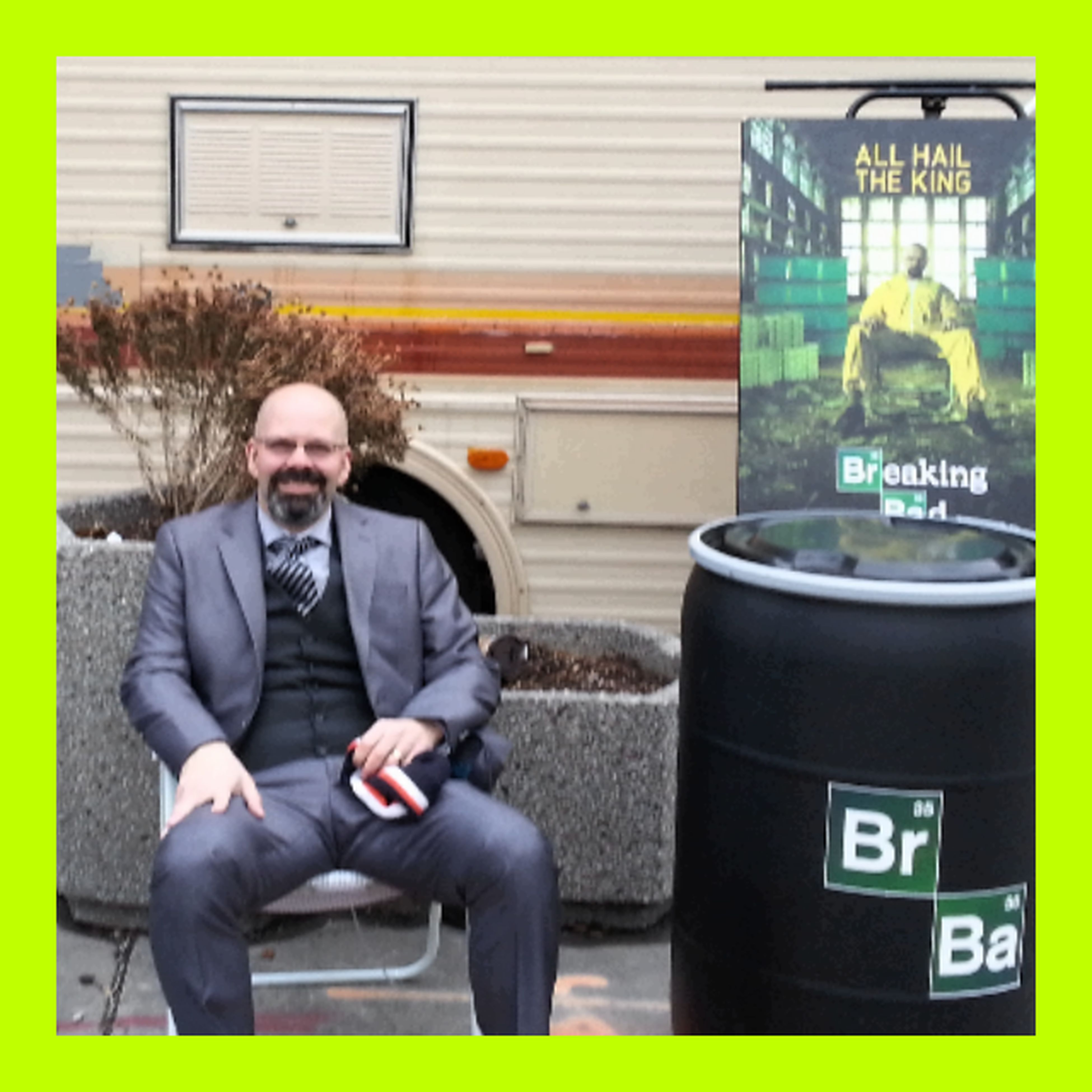 Chilling after a cook outside the RV Box And Seeing Breaking Bad Heisenberg Relaxing Hanging Out