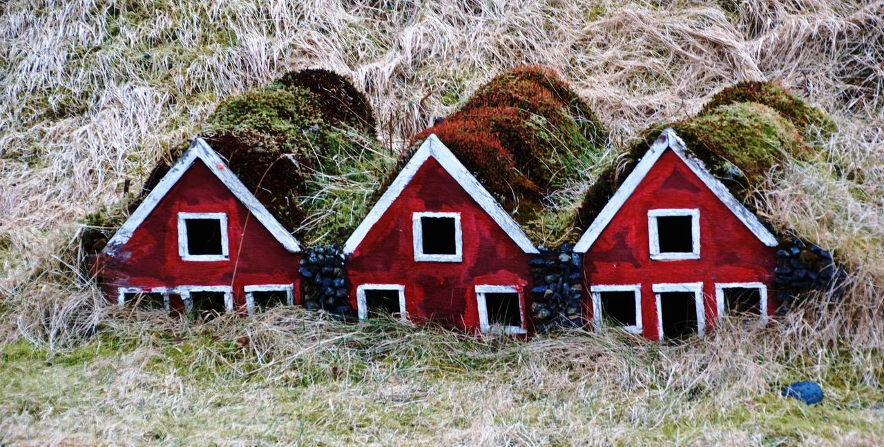Architecture Building Exterior Built Structure Cute Exterior Grass Iceland Little Houses  Mini Art Miniature Old Outdoors Red Roadtrip With The Cousins Turf Turf Houses