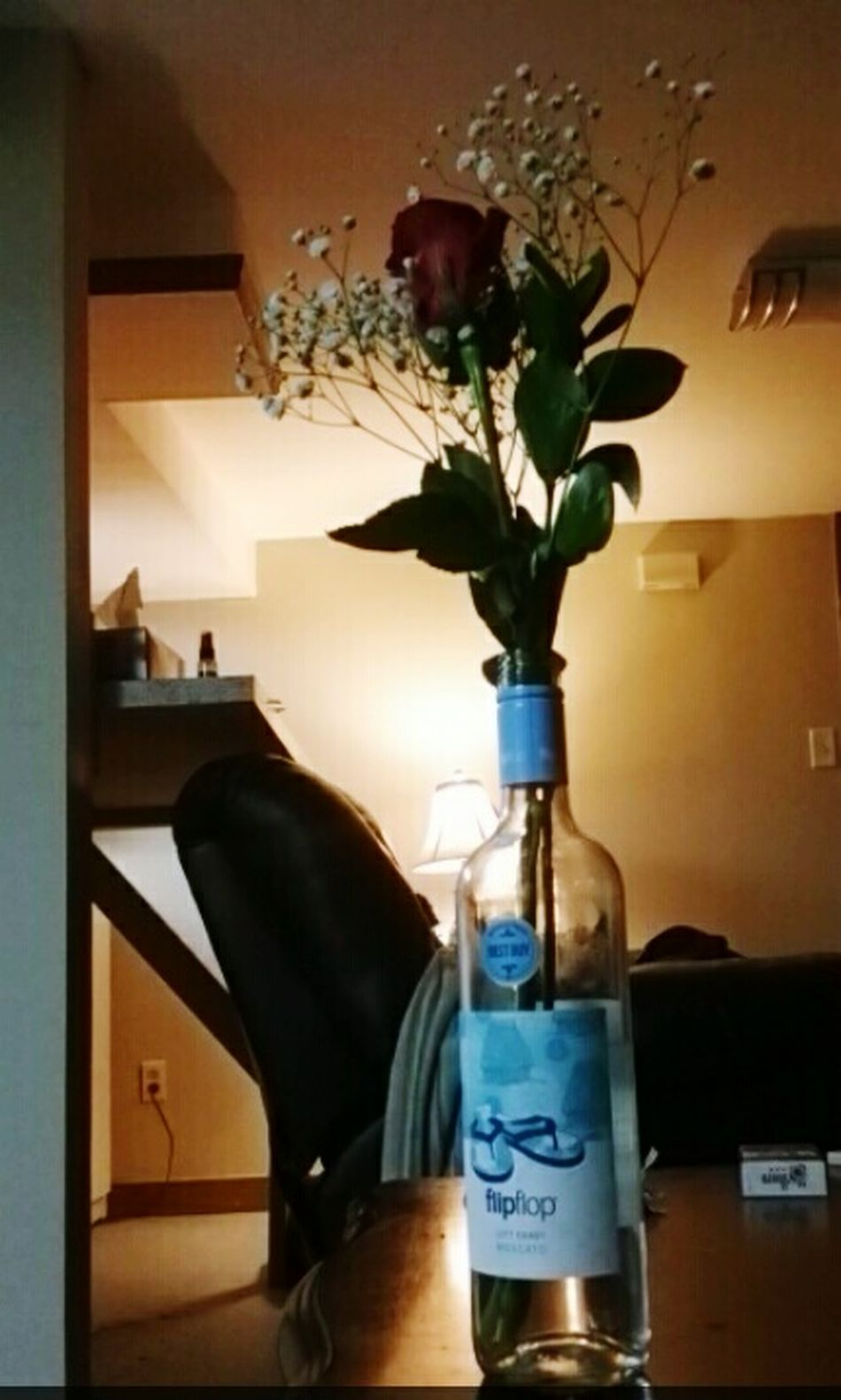 Its The Small Things In Life Winebotttle Red Rose