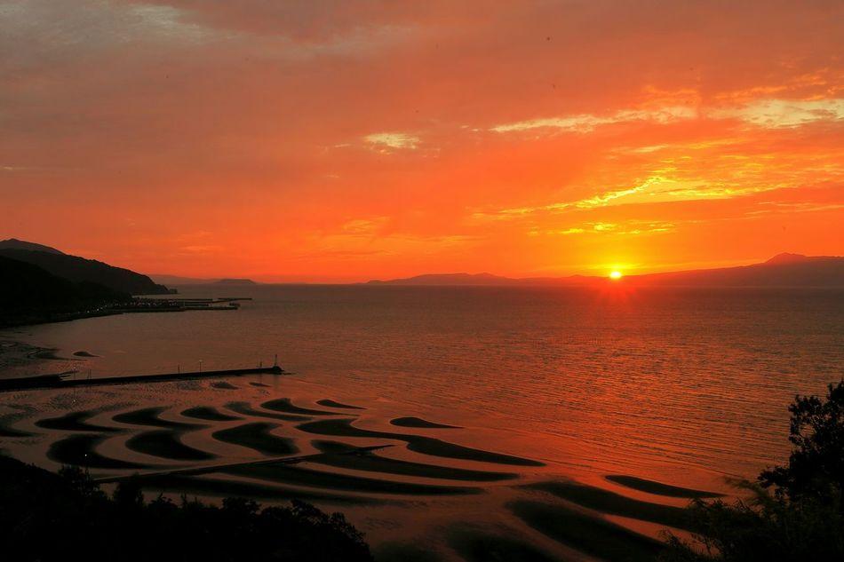九州に生まれて良かった~~\(^o^)/ Eyeem Best Shots - Sky And Cloud Tideland Tidelands Coast Sunset_collection Sea And Sky EyeEm Best Shots - Sunset + Sunrise 思わず足を止めた景色♪(*´︶`*)✿ Sky And Clouds Cloud And Sky