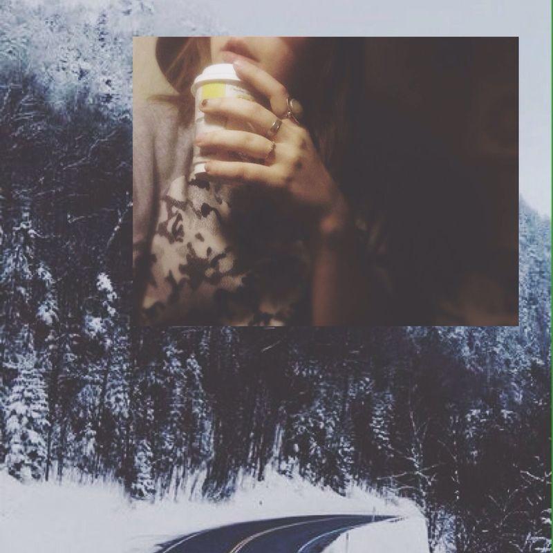 Girl Winter Coffee hello world