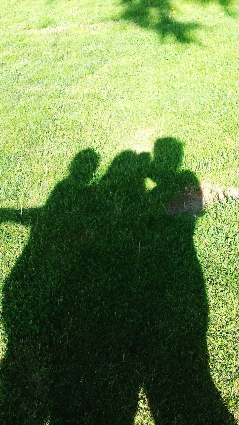 Shadow Three People Focus On Shadow Sunlight Real People Grass Nature Outdoors Day Green Color Forever Friends