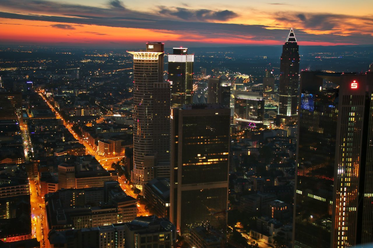 City Urban Skyline Skyscraper Night Cityscape Architecture Sunset Travel Destinations Sky Travel No People Scenics Business Finance And Industry Modern Cloud - Sky Skyline Skyline Frankfurt Maintower Sunset_collection Urbanphotography Urban Exploration Deutschland GERMANY🇩🇪DEUTSCHERLAND@ EyeEm Best Shots Eyemphotography