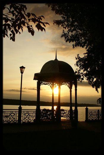 Russia Kineshma Sunrise Volga River Кинешма восход Река Волга Russia россия Россия