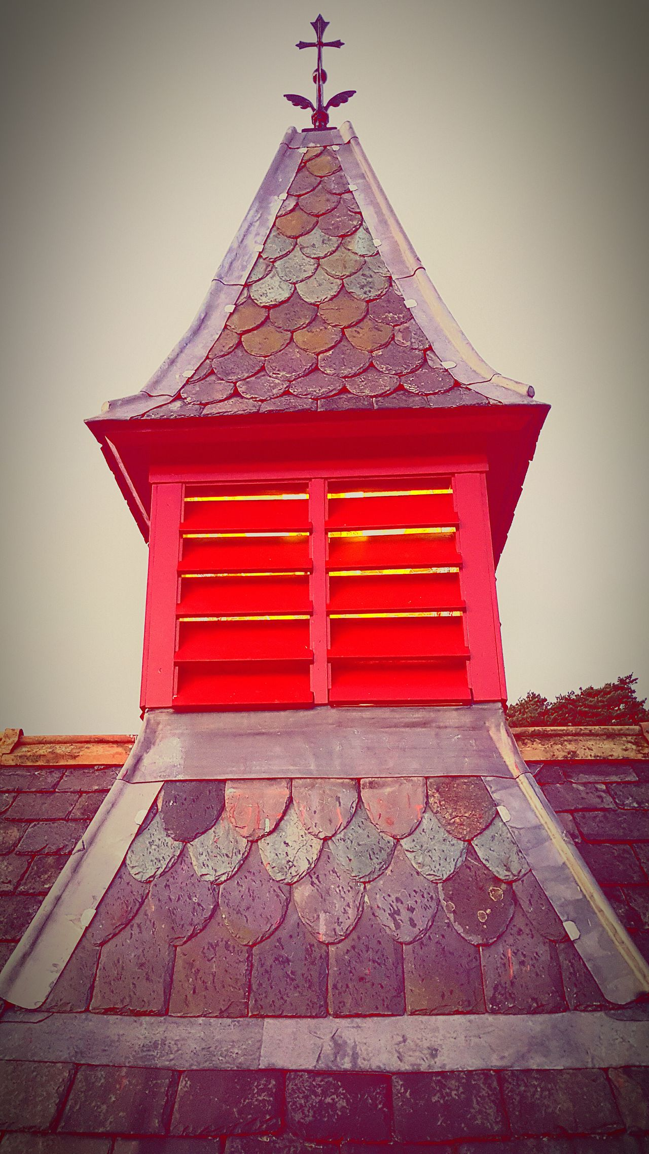 Turret roof slates Architecture Building Exterior Built Structure No People Roof Old-fashioned Outdoors Day Sky