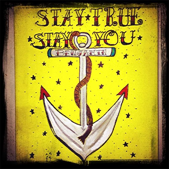 My very first drawing-painting for a Christmas present. #tattooflash #tattooletters #staytrue #stayyou #canvas
