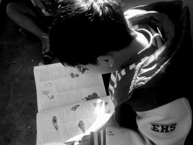 Kidsphotography Studying Happiness Kids Books Gettin Involved Blackandwhite Black & White