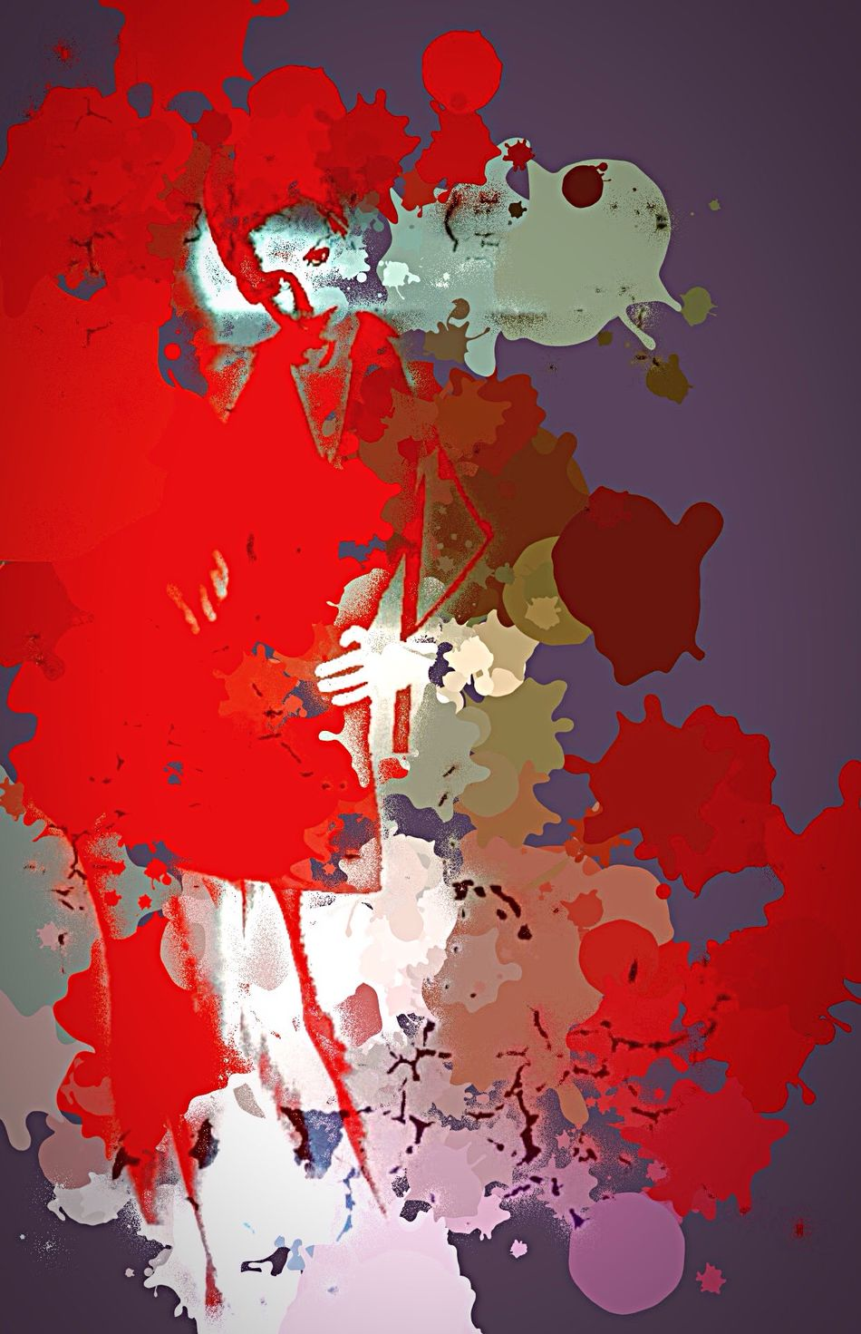 Getting Dressed Ready To Go Woman Woman Portrait Selfportrait Abstract Art Art, Drawing, Creativity Red Textured  One Person Portrait Of A Woman Multi Colored Contemporary Art Spray Graffiti Art Photo Manipulation Digital Art Creative Bit Of Fun Strength Splatter Bright