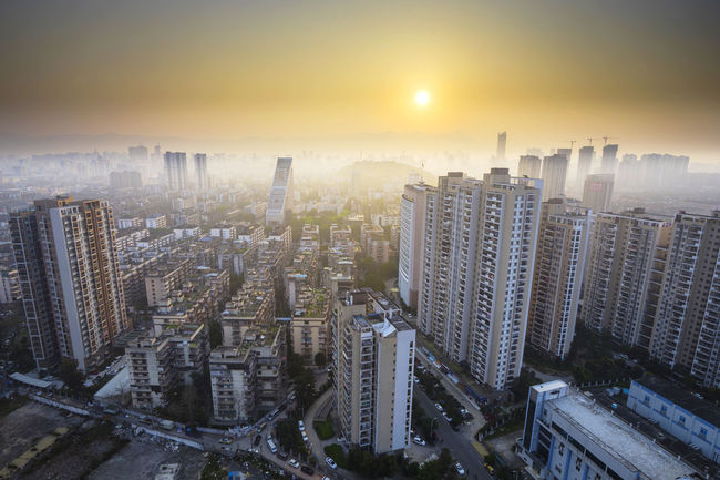 Building Buildings & Sky China City Fog Foggy Morning Fuzhou Mist Skyline Sony Sonya7m2 Sunrise 福州