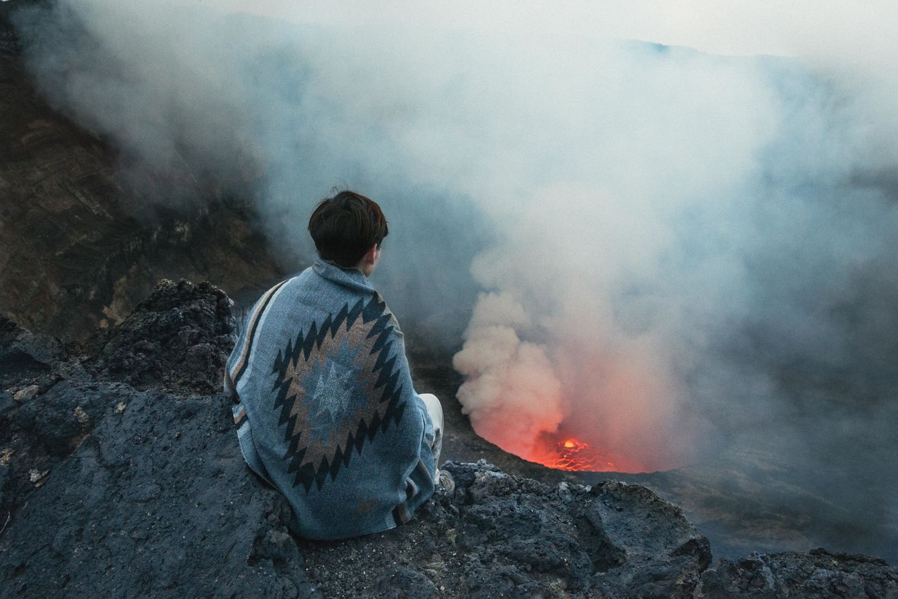 Beautiful stock photos of feuer, one person, environment, watching, men