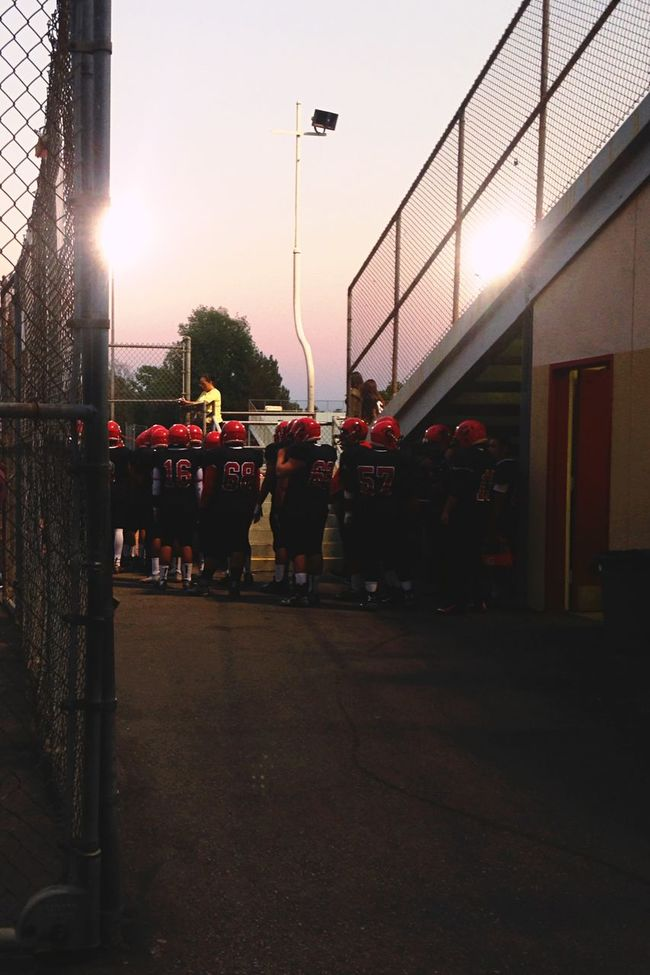 Entering. Football Highschool Game California Summer 2015  Iphonephotography IPhoneography Lights Getting Creative