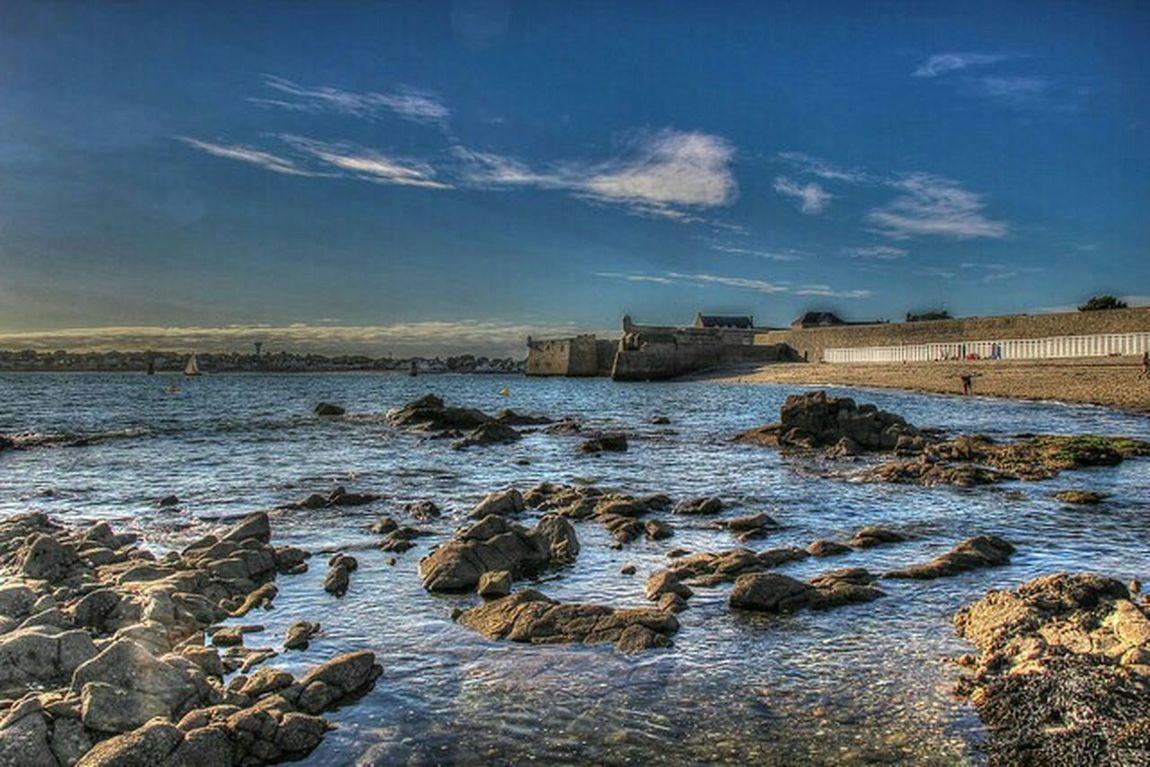 Sea Defence Old Sea Defence Brittany France Port Lois