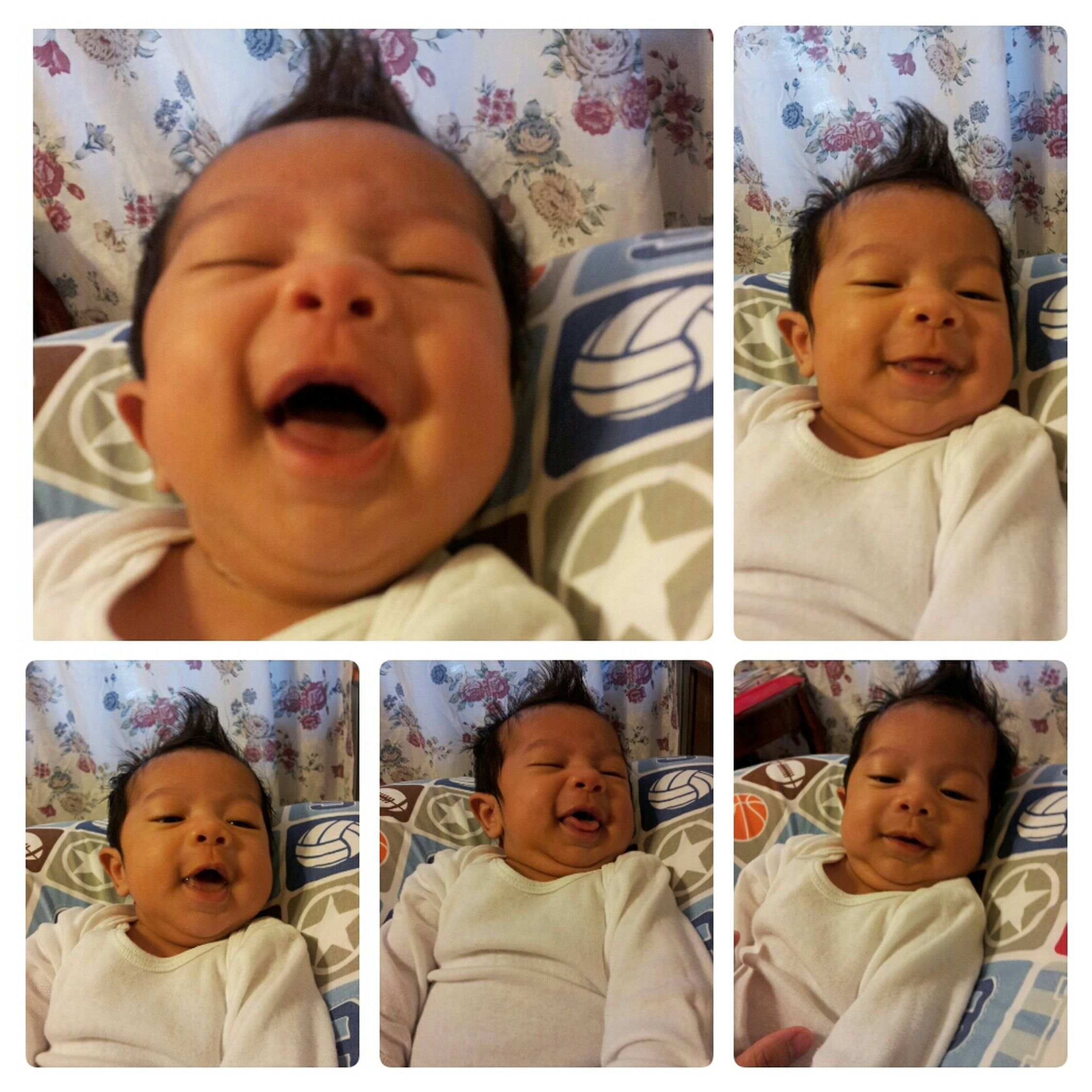 Smile! (: No Neck  He's Getting Fat Double Chin Still Cute Doe Silas