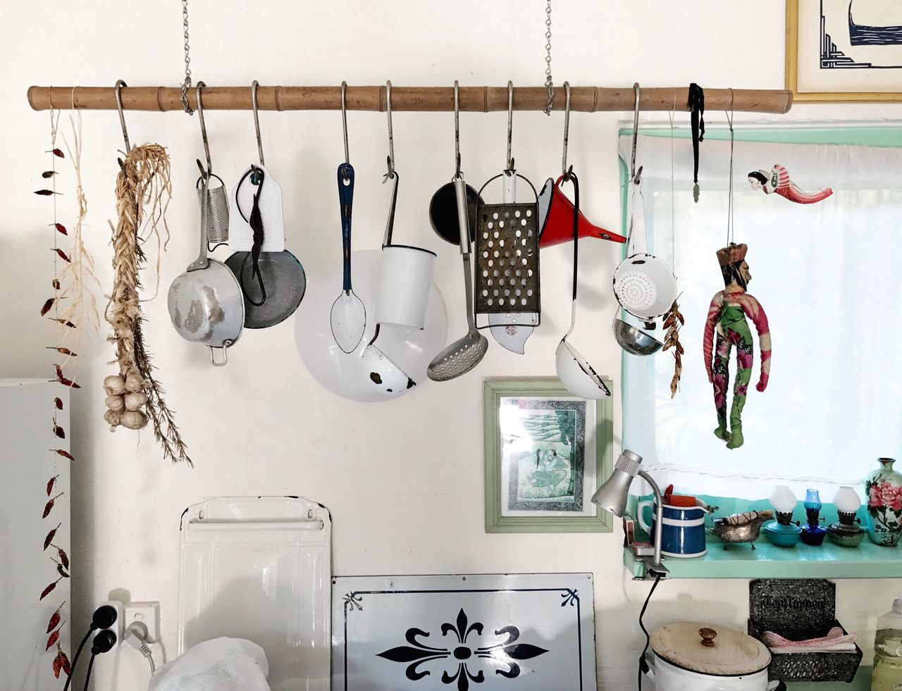 Hanging Indoors  Domestic Kitchen Large Group Of Objects Coathanger Kitchen No People Domestic Room Neat Variation Day Art Is Everywhere