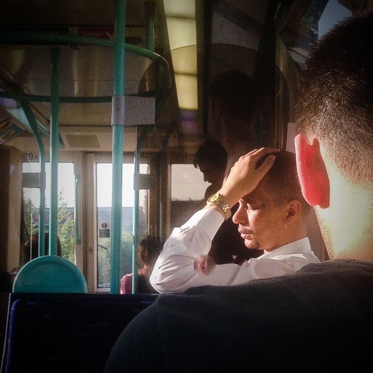 Beautiful light on the train home tonight Photography People Watching Sunset Notes From The Underground