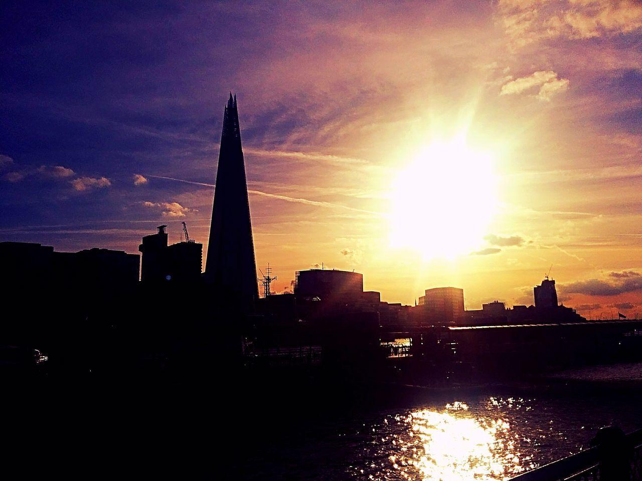 London skyline in the sunset Sunset Urban Skyline Travel Destinations Cityscape Dramatic Sky Architecture Skyscraper City Cloud - Sky Awe Sky Illuminated Modern Scenics No People