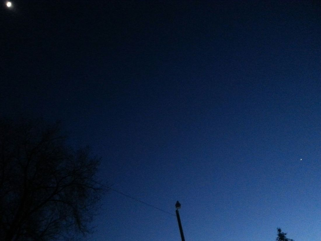 The moon and venus! Sky Astronomy