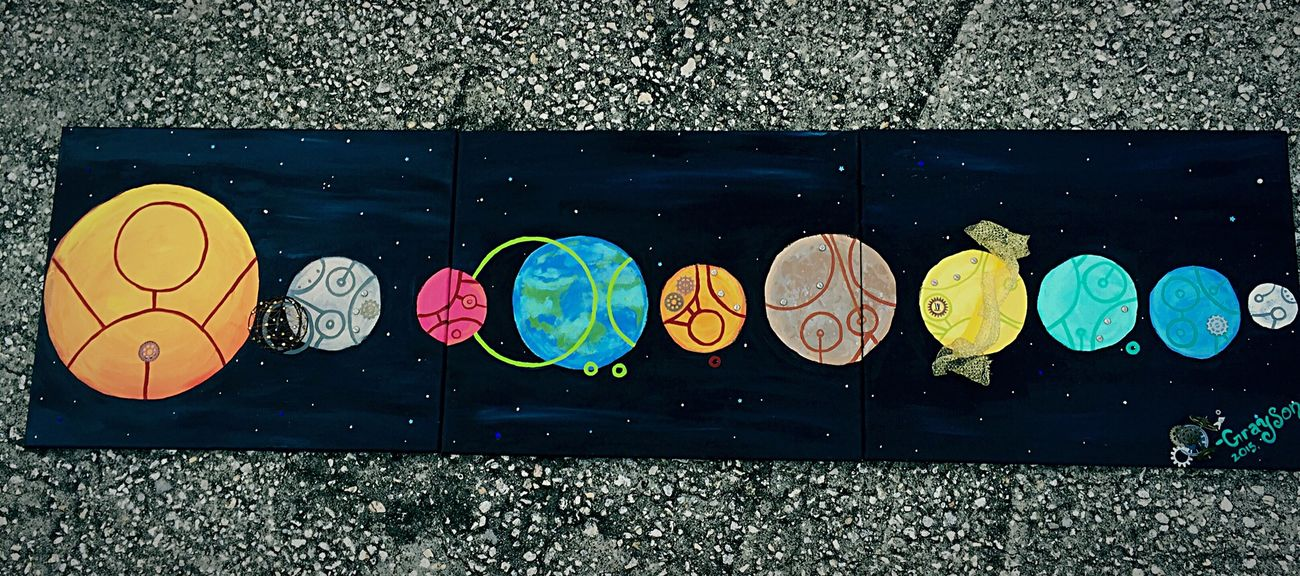 Dr Who Art Doghairstudio Handmade Gifted Art Mixed-medium Solar System