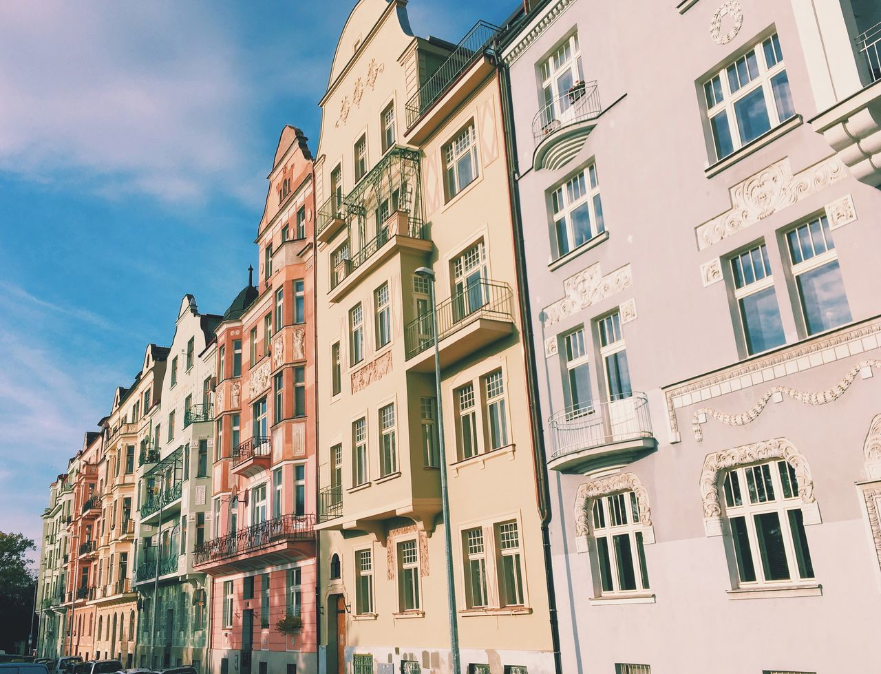 Morning run let me come across these beautiful pastel coloured homes overlooking the park here is Prague. Next stop for me are the alps of France and Austria Building Exterior Architecture Built Structure Window Sky Low Angle View Outdoors Residential Building No People Cloud - Sky Day Colors Colour Pastel Colours Travel Adventure