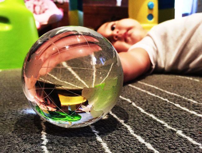 Getting Creative Baby Girl Hello World World Glass