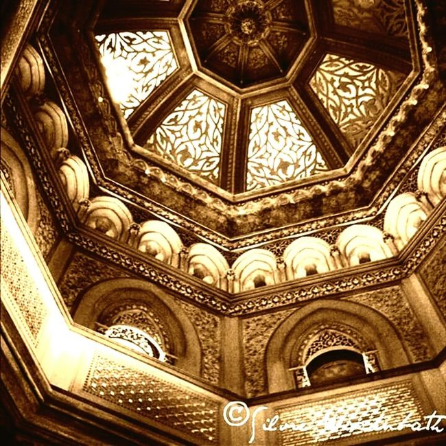 """Inside of """"Palácio da Pena""""-Sintra Pattern Ornate Close-up Architecture Indoors  Low Angle View Backgrounds Light And Shadow Reflection Palace Of Culture Palacio Palacesquare Sintra (Portugal) Sintralovers"""