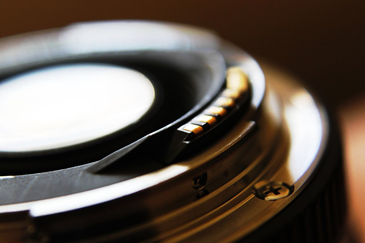 Cropped Image Of Camera Lens