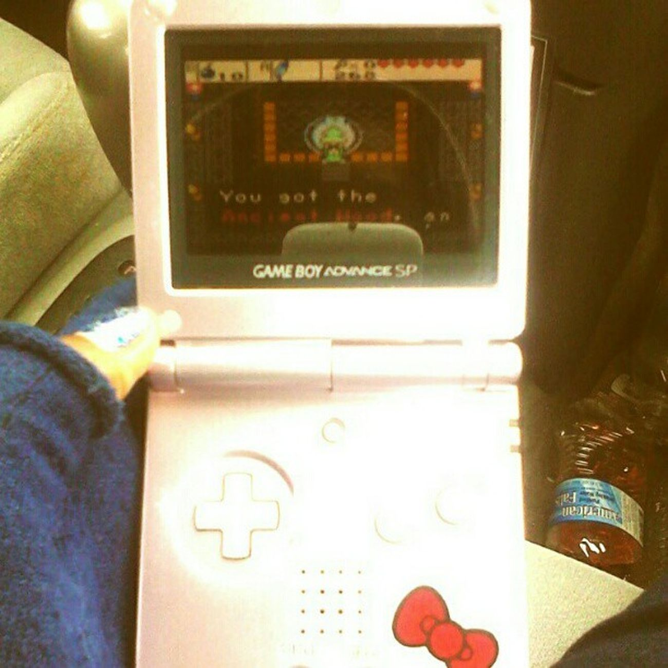 It took me an embarrassing amount of time to complete the wing dungeon on #thelegendofzelda #oracleofages. Now I'm off to locate the 3rd essence! Thelegendofzelda Wtfgamersonly Vintage Nintendolife Oldschool Gameboyadvance Gaming Wtfgo Retro Gameboyadvancesp Nintendo Oracleofages Link Ninstagram Zelda Snapplay Gamer Hardcore_gamer_girls Hellokitty Hellokittyjunkie Videogames Tloz Gameboy Retrogamimg Igersnintendo Vintagevideogames Handheld LegendOfZelda