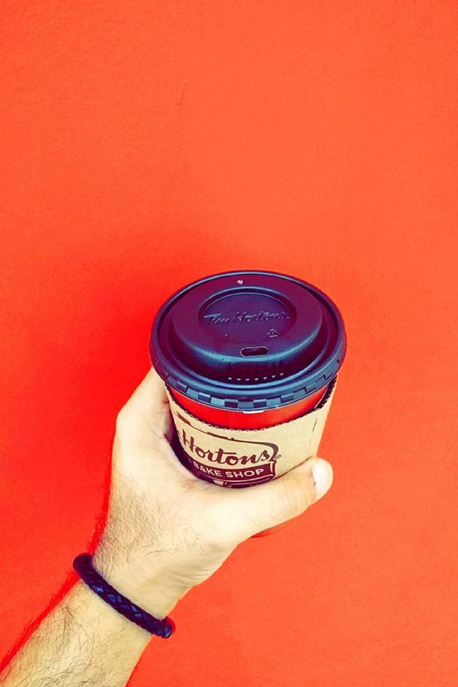 "I go dump if I don't sip my "" WAKE UP "" Coffee    Timhortons Coffee Hazelnut Latte Latte Hazelnut Syrup Hazelnut Antidude"