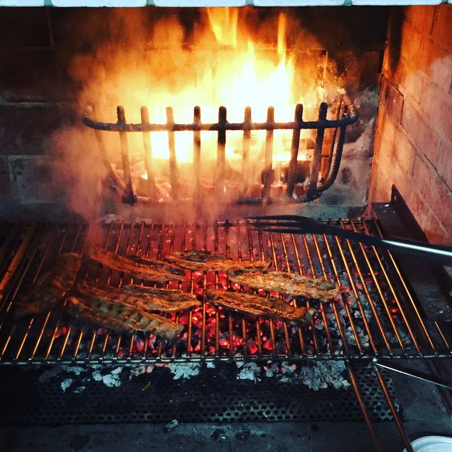 Bacon Barbecue BBQ Burning Flame Food Grill Italy Party Pork