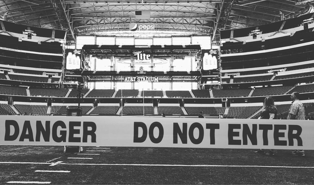 Stadium AT&T Stadium NFL Football Football Stadium American Football Dallas Cowboys Football Field Do Not Enter Do Not Enter Sign