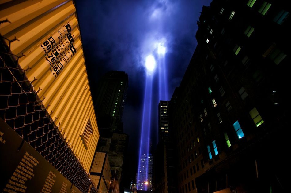 9/11 Lights 9/11 Lights WTC LIGHTS WTC Canonphotography Manhattan Canon Shooter Nightphotography NYC Photography New York City Clouds And Sky