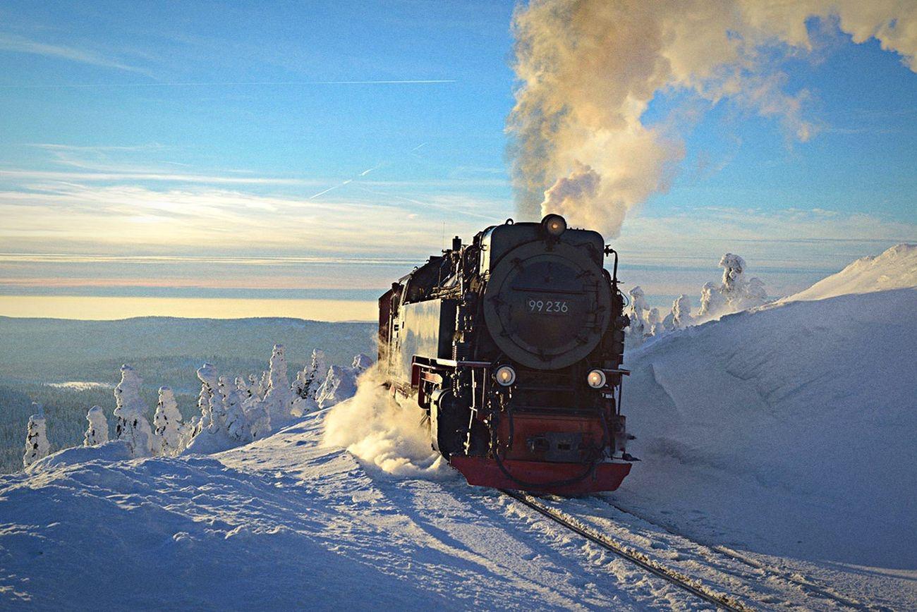 Harz Brocken Brockenbahn Schnee Winter