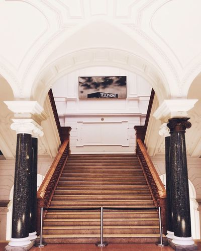 EyeEm Selects Indoors  Arch Architecture No People Built Structure Day Museum Museum Für Kommunikation Berlin Staircase Stairs ShotOnIphone Shotoniphone8