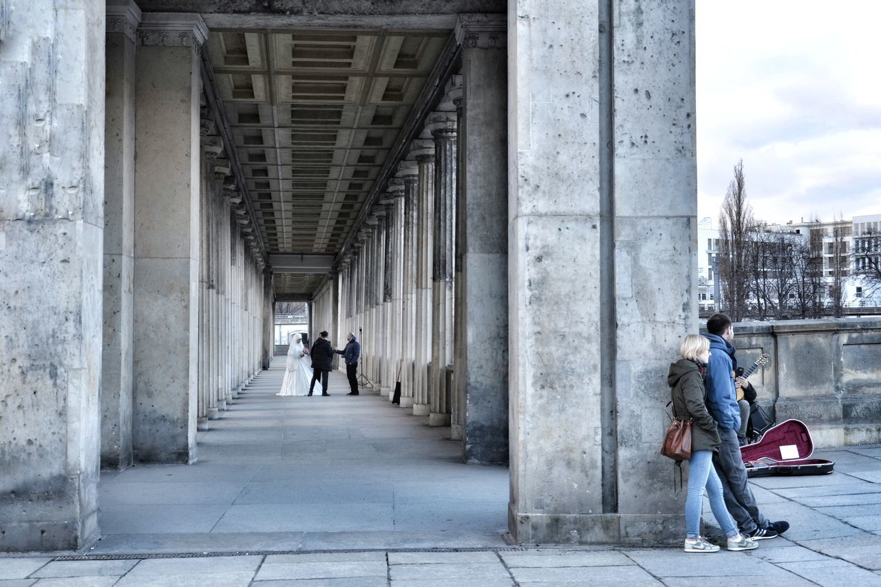Architecture Built Structure Architectural Column City Building Exterior Day Travel Destinations People Urbanphotography Wedding Berlin